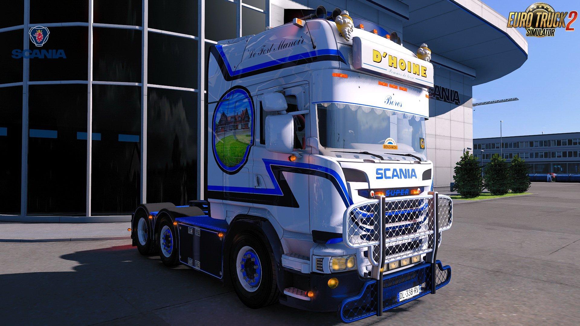 Scania R580 D.HOINE Edition + Trailer v1.0 (1.32.x)