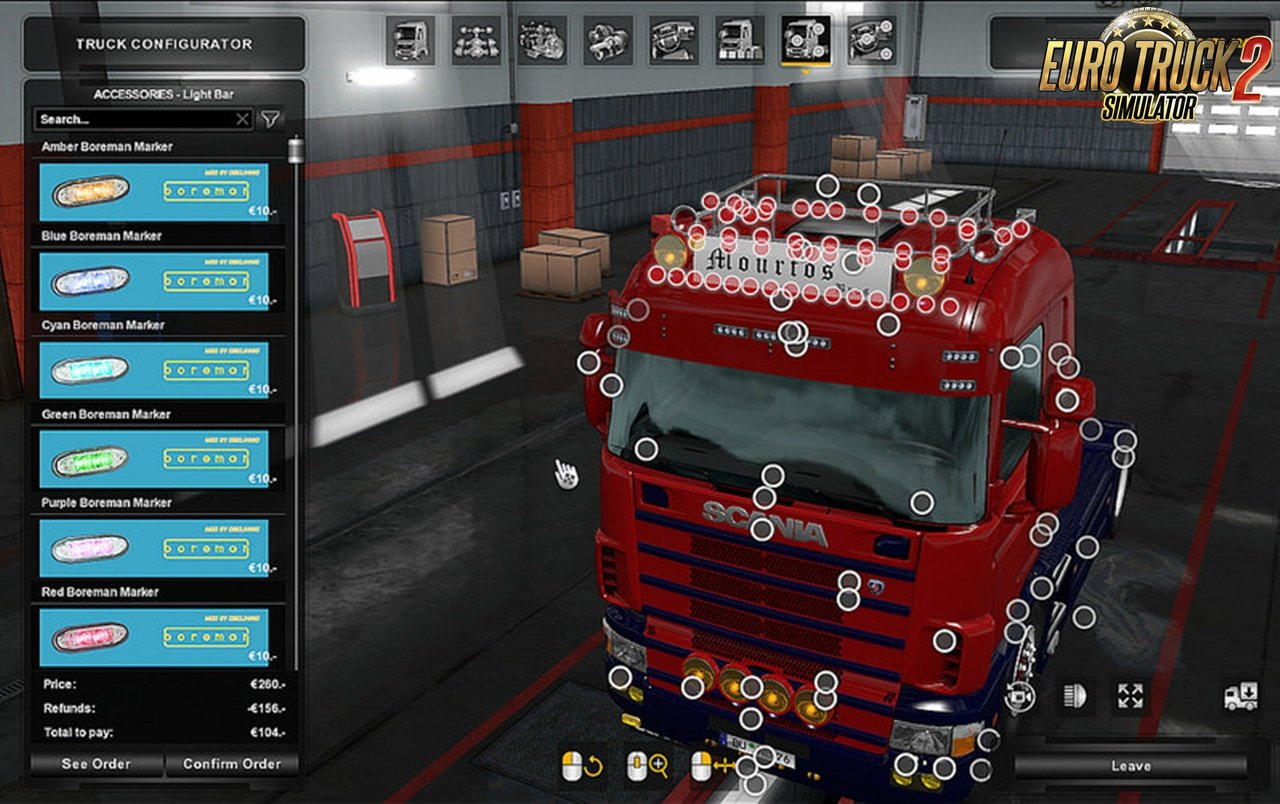 Accessories Pack v1.1 for RJL's Scanias by V Mourtos