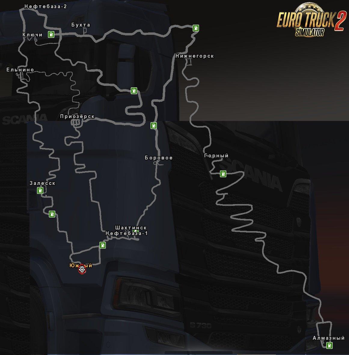D2 Map v1.1 for Ets2 [1.32.x]
