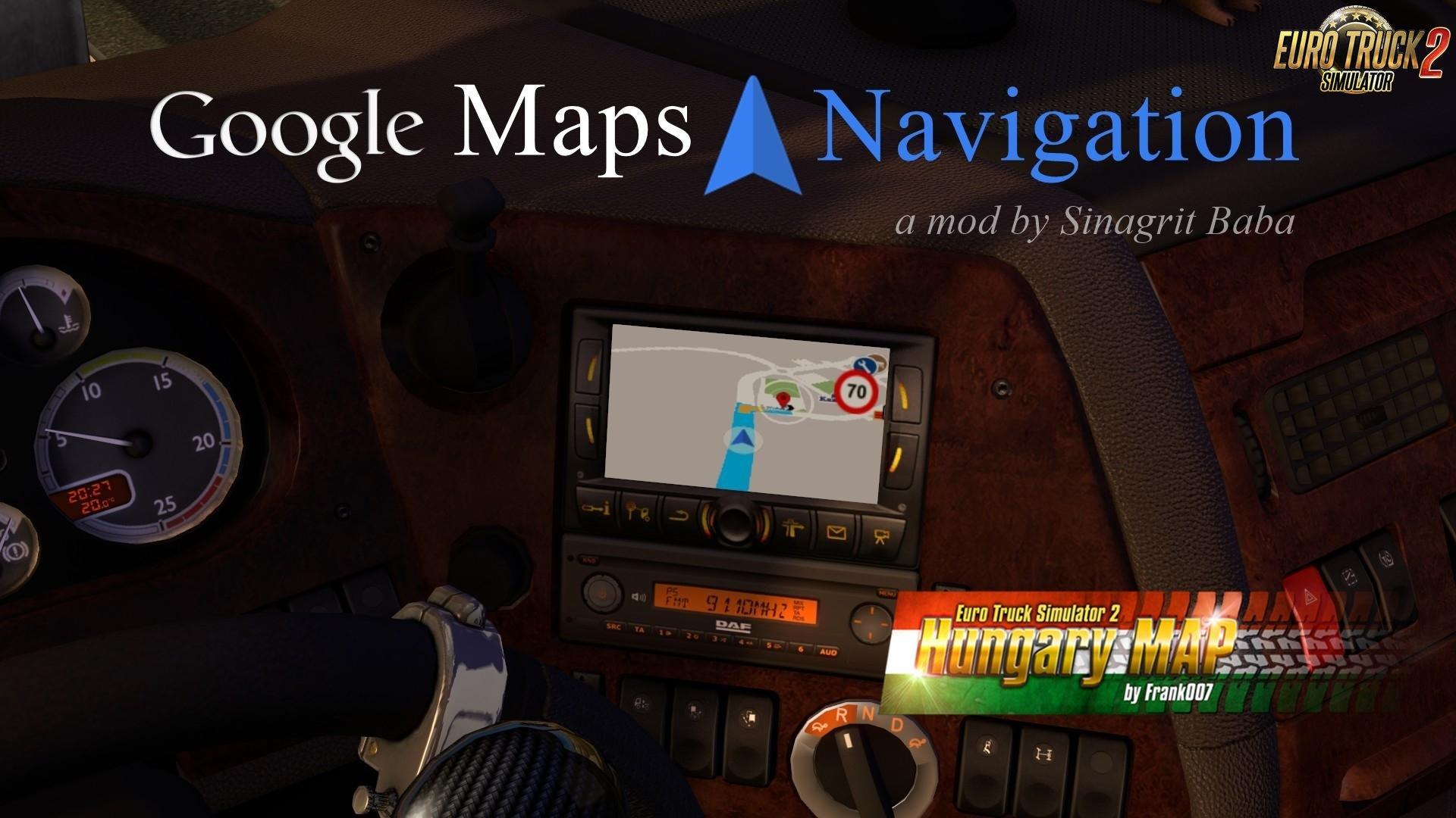 Google Maps Navigation Normal and Night Version Map Mods Addons v2.0