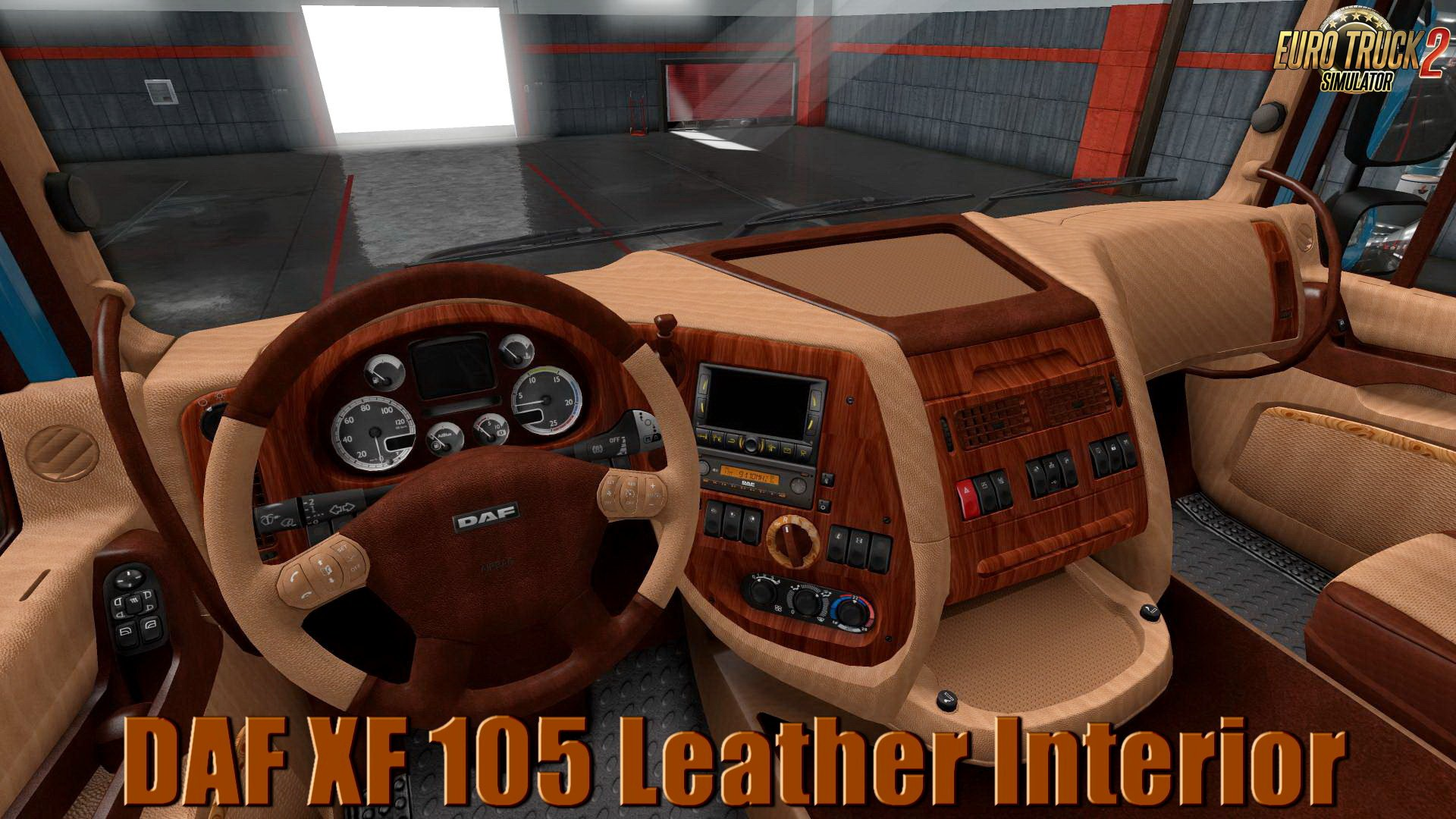 DAF XF 105 Leather Interior v1.0 (1.32.x)