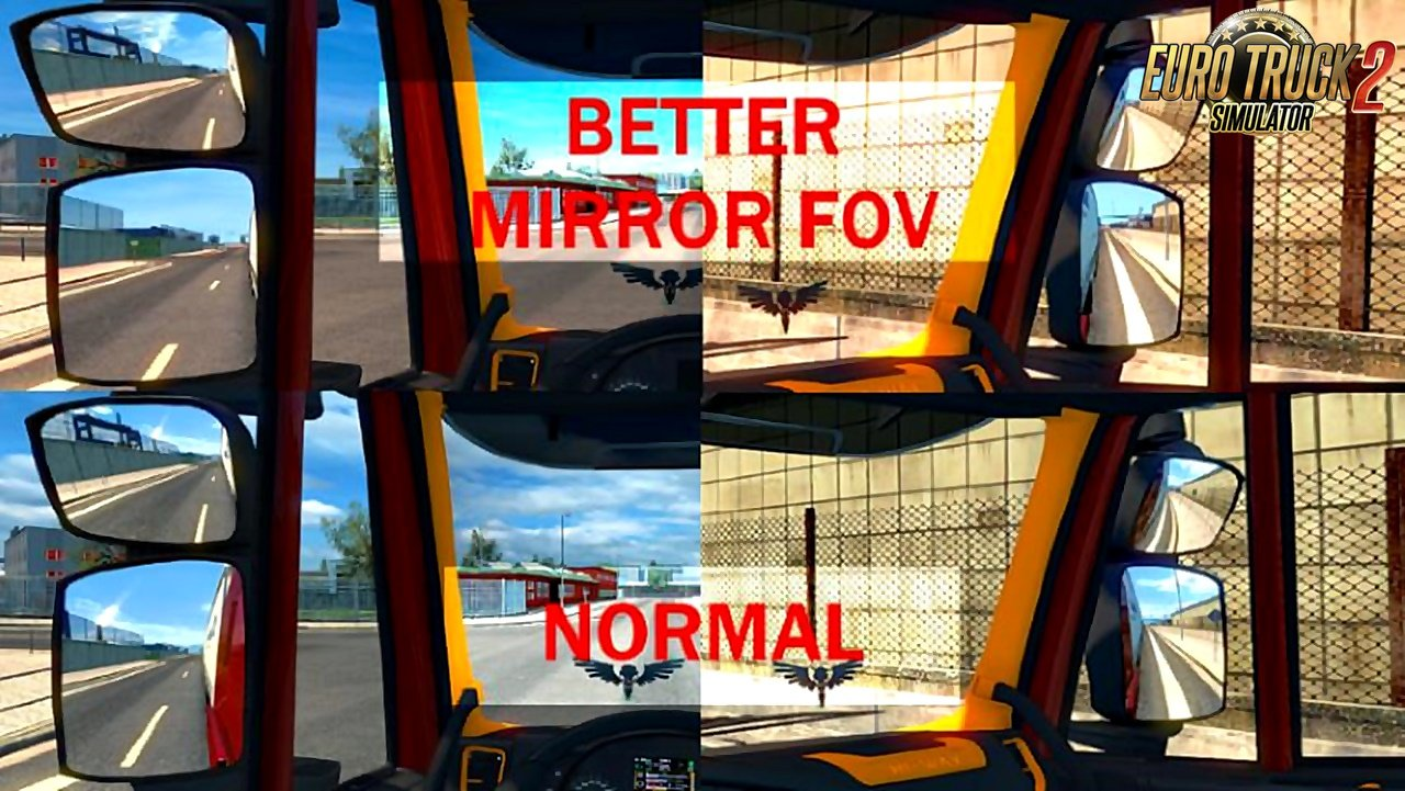 Better Mirror FoV for all trucks in game