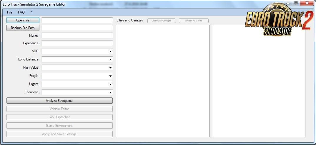 ETS2 Savegame Editor v1.1