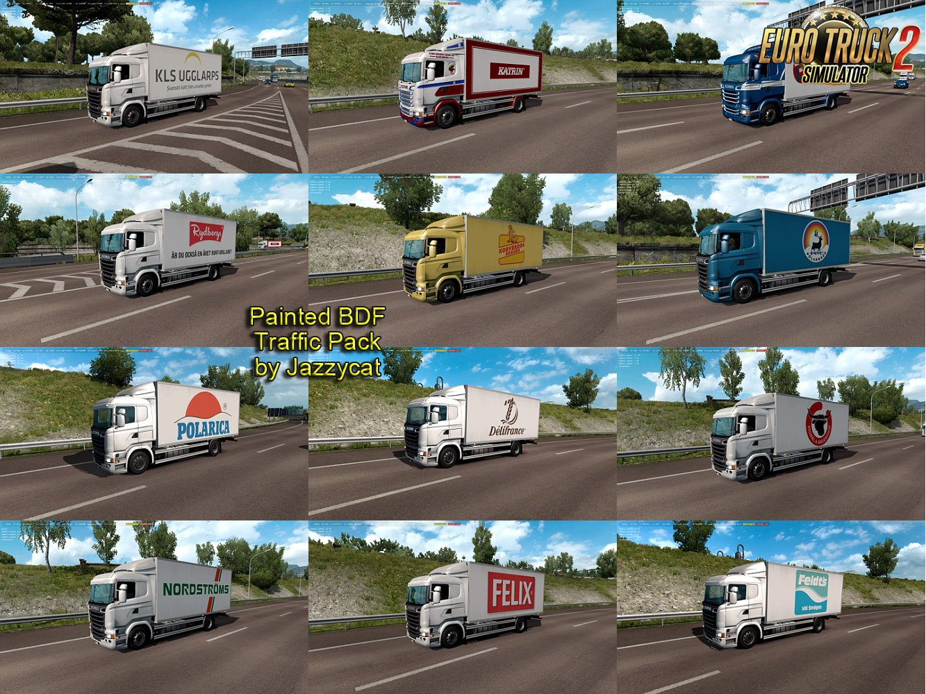 Painted BDF Traffic Pack v4.1 by Jazzycat