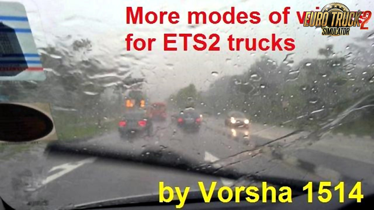 More modes of wipers for Ets2 trucks (1.34.x)