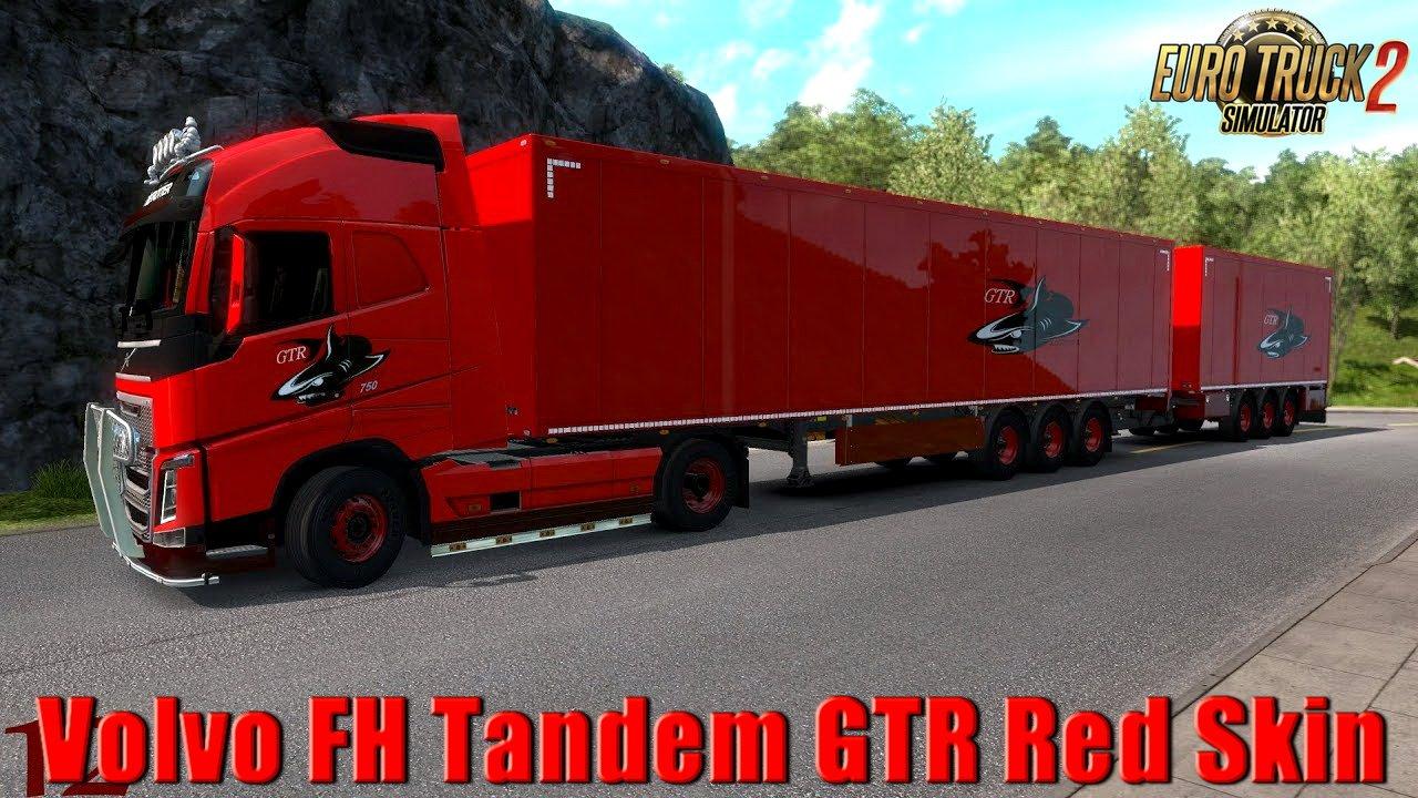 Volvo FH Tandem GTR Red Skin v1.0 (1.33.x)
