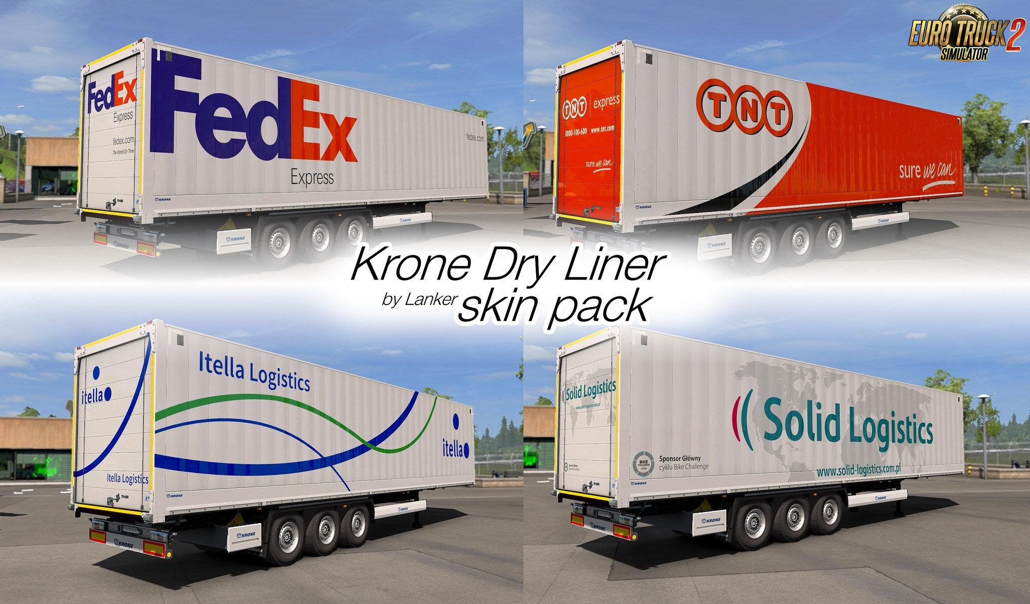 Skin Pack for Krone Dry Liner in Ets2 (1.32.x)