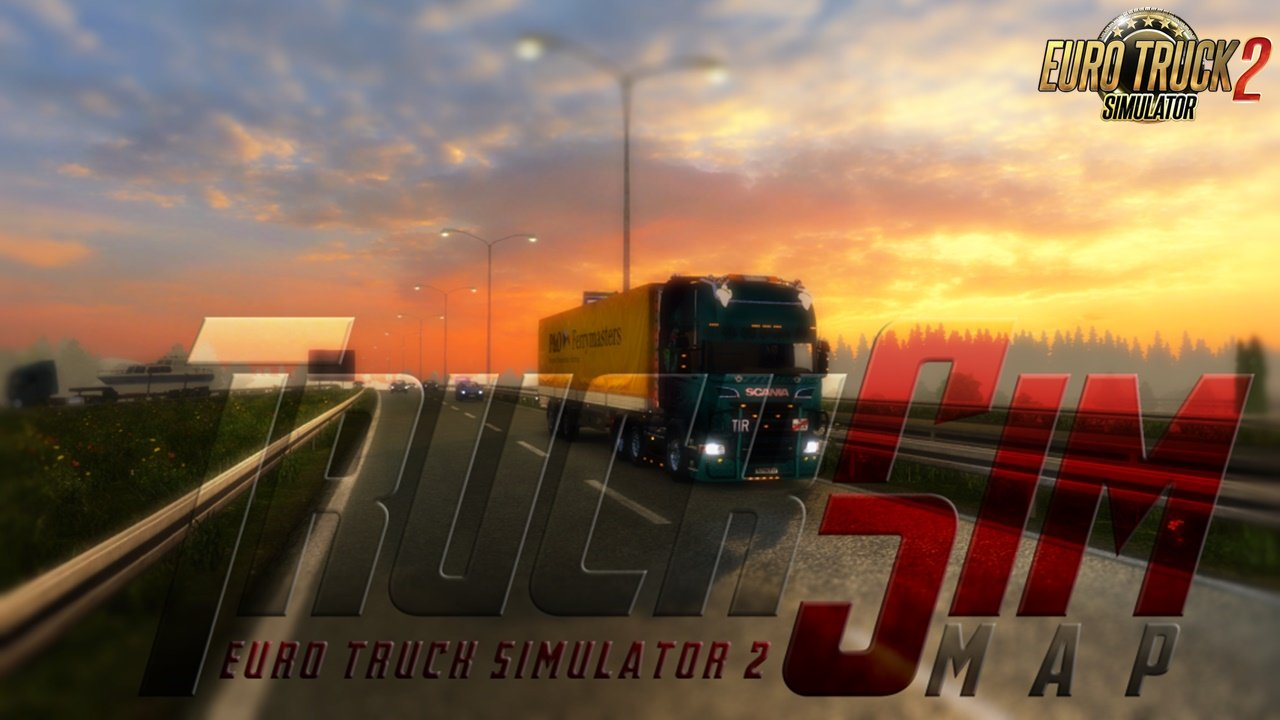 TruckSim - Map 1.34 for Ets2