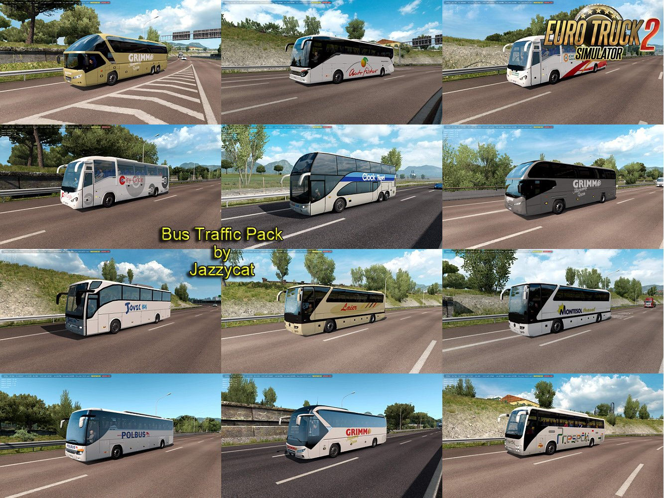 Bus Traffic Pack v5.6 by Jazzycat