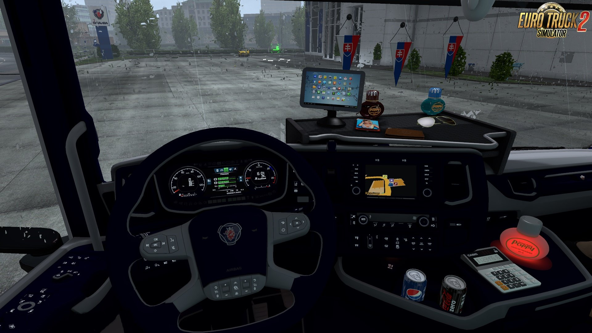 Blue Interior for V8 Scania Next Gen