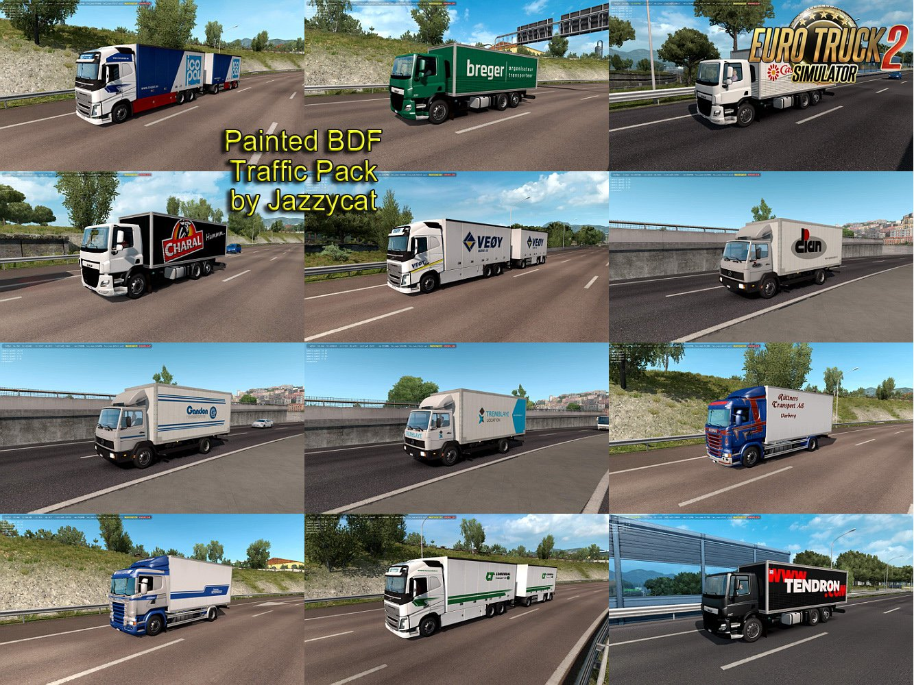 Painted BDF Traffic Pack v4.2 by Jazzycat