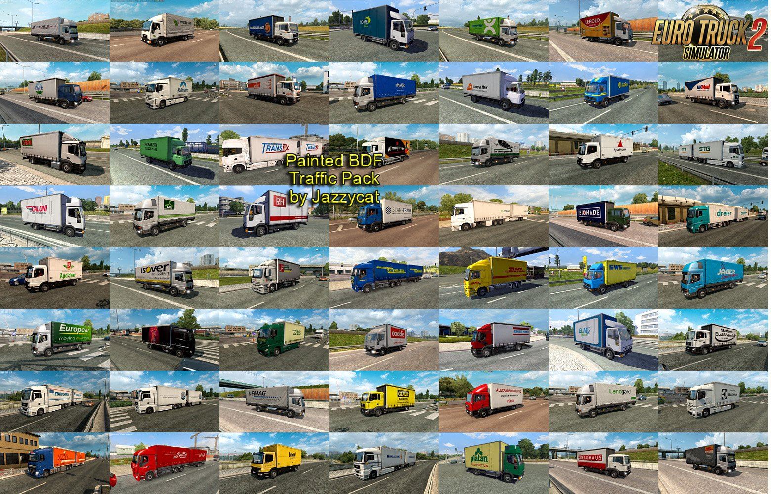 Painted BDF Traffic Pack v5.5.1 by Jazzycat (1.35.x)