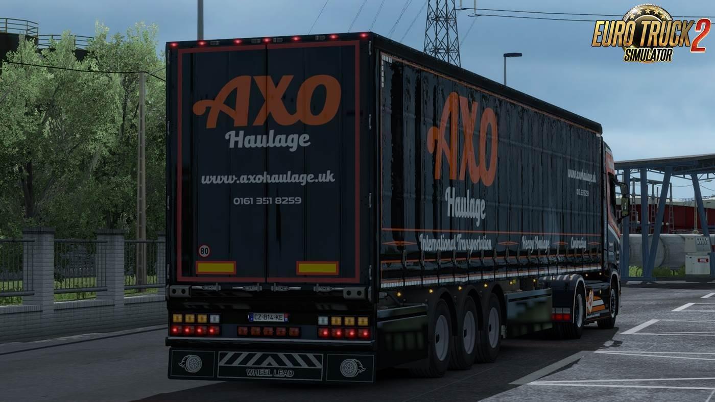 Axo Haulage LTD Skin For Scania S + Trailer v1.0 (1.33.x)