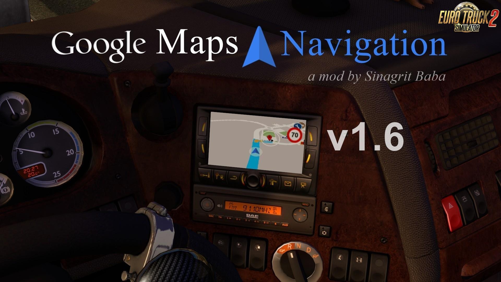 Google Maps Navigation v1.6 [1.33.x]