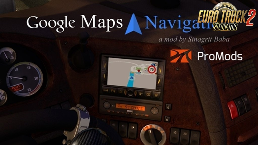 Google Maps Navigation for ProMods v2.4 (1.36.x)