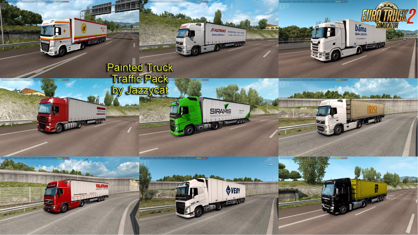 Painted Truck Traffic Pack v6.7 by Jazzycat