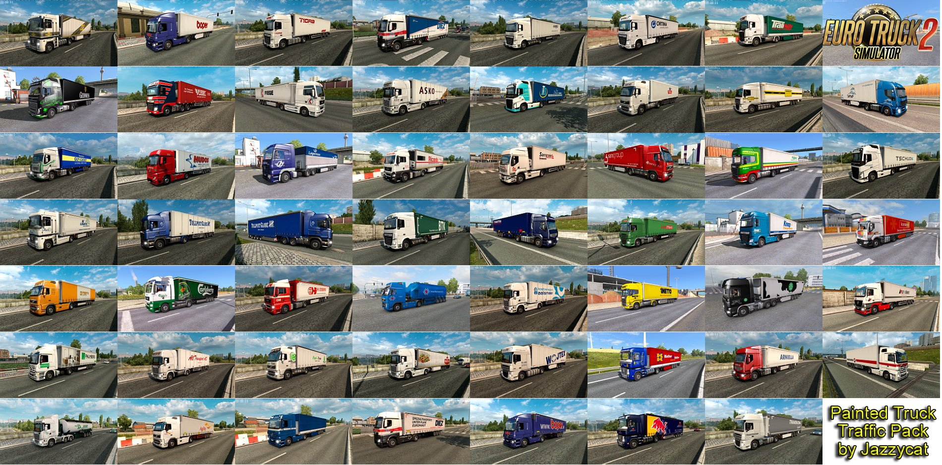 Painted Truck Traffic Pack v8.0.1 by Jazzycat
