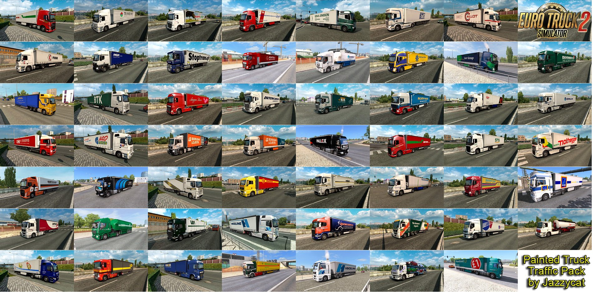 Painted Truck Traffic Pack v7.5 by Jazzycat