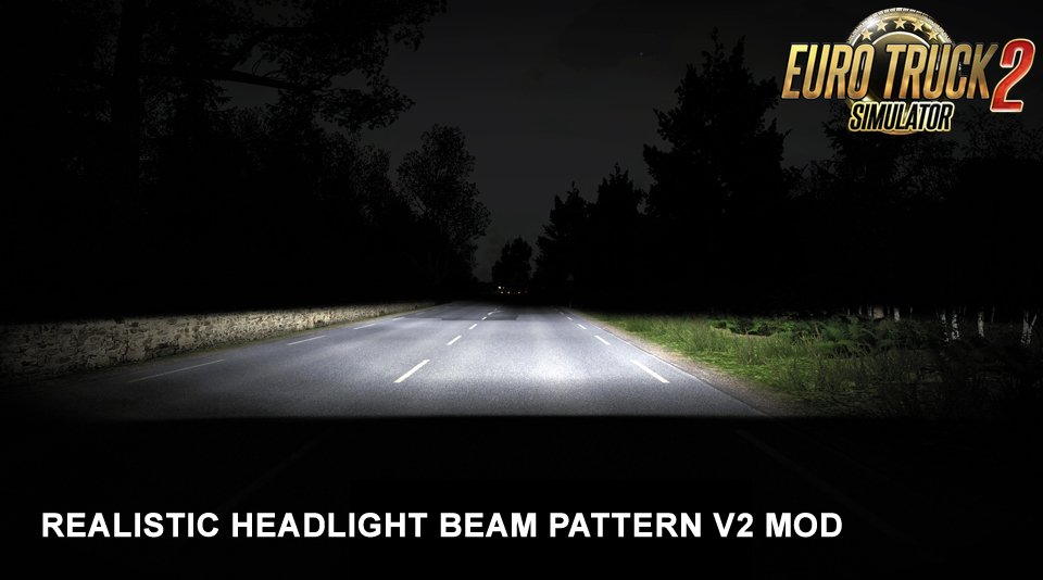 Realistic Headlight Beam Pattern v2 mod for Ets2