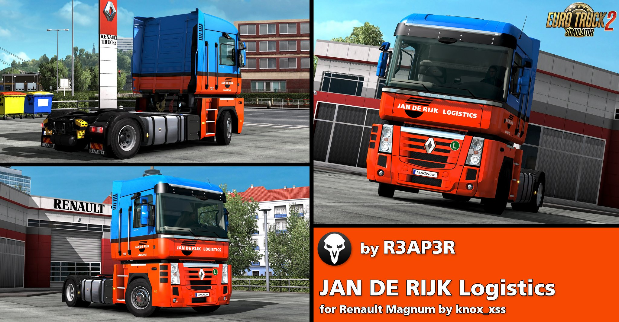 JAN DE RIJK Skin for Renault Magnum v1.0 by R3AP3R (1.33.x)