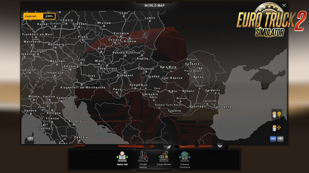 ROMANIA Map v1.7 by MIRFI (1.33.x) for ETS2