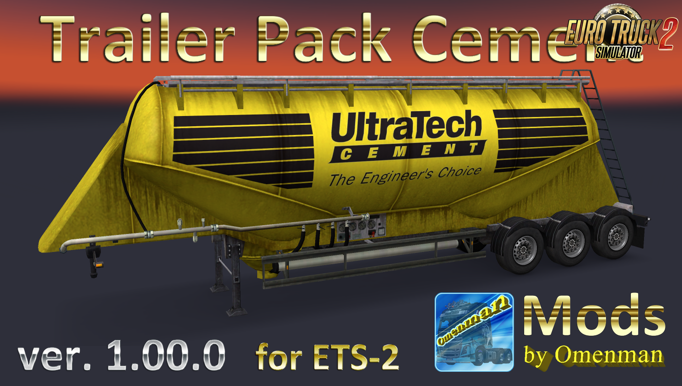 Cement Trailer Pack v.1.00.0 (Rus + Eng versions)