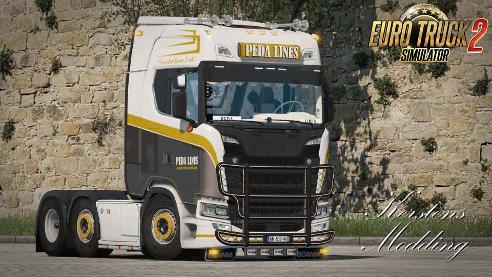 Scania S Peda Lines Skin v1.0 by DavyBerto (1.33.x)