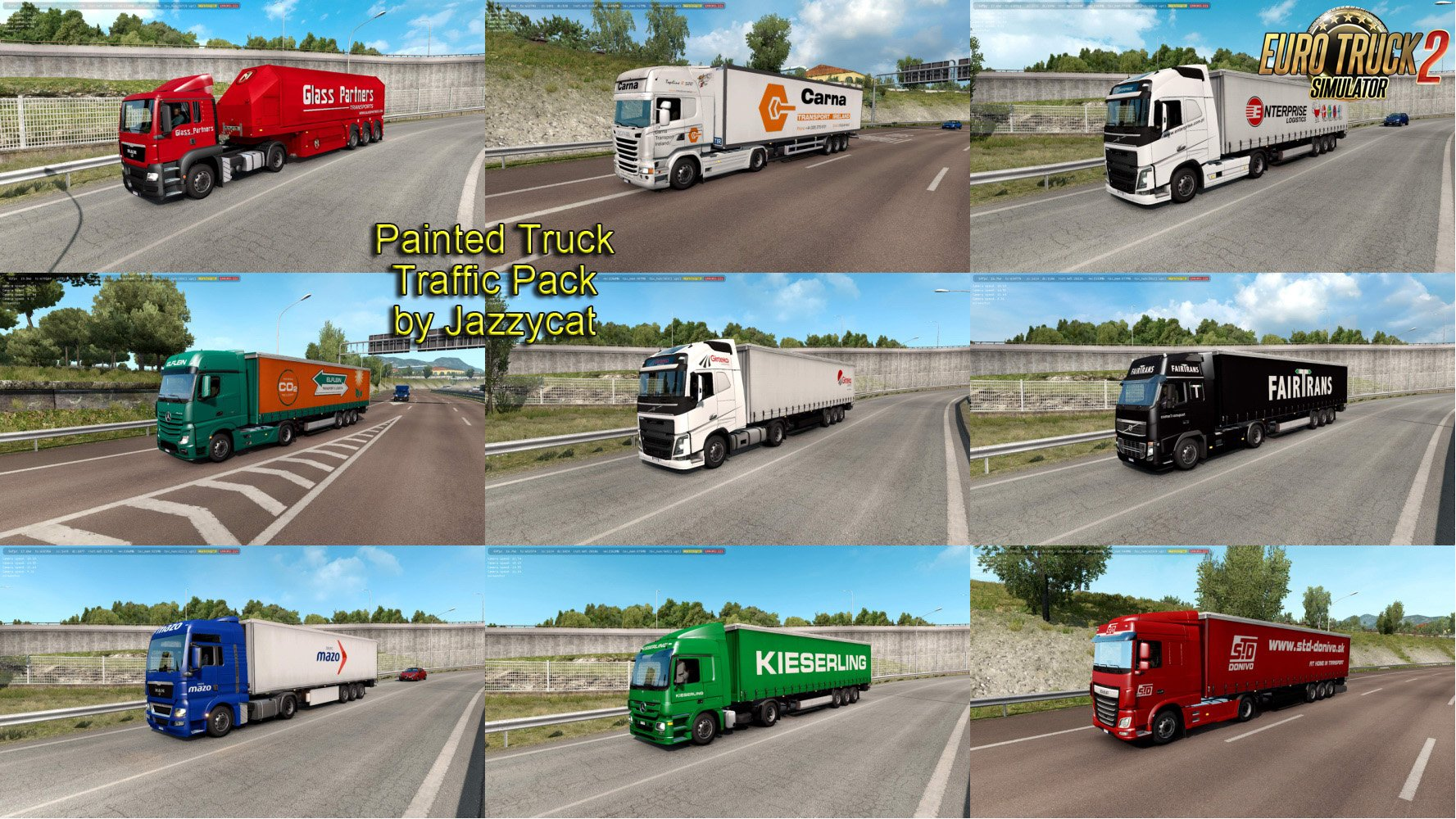 Painted Truck Traffic Pack v6.8 by Jazzycat