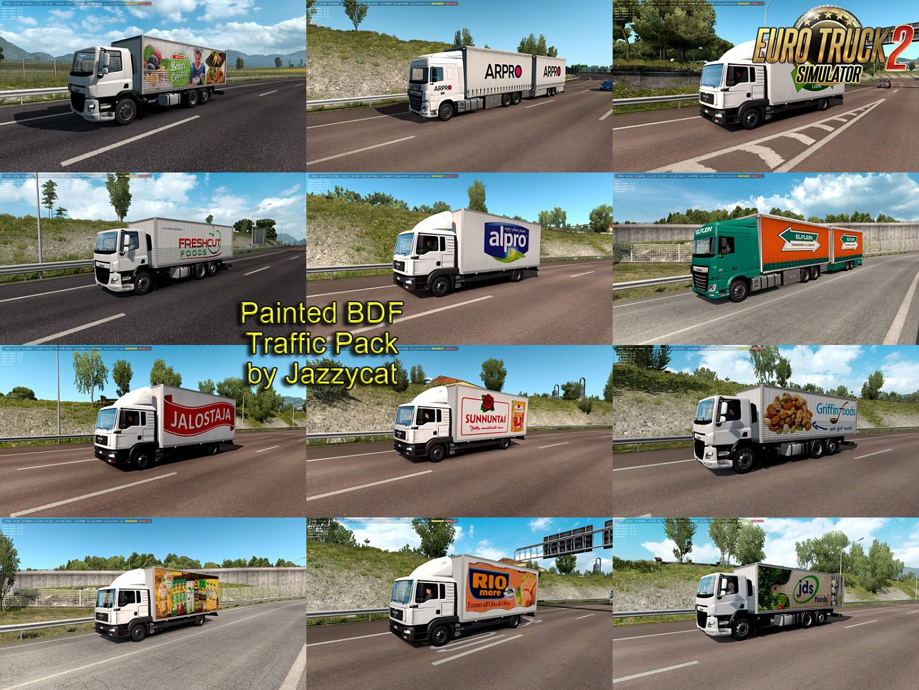 Painted BDF Traffic Pack v4.4 by Jazzycat