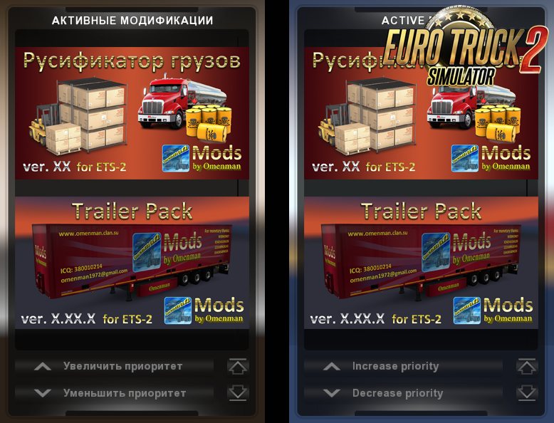 Cargo Rus v.03 for Ets2 (Русификатор грузов)