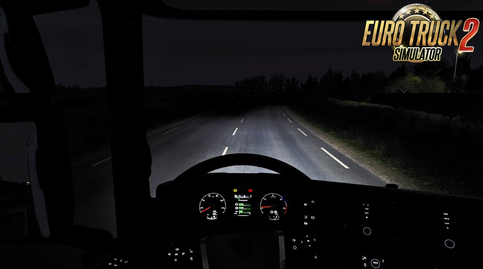 Realistic Headlight Beam Pattern v2.1 mod for Ets2