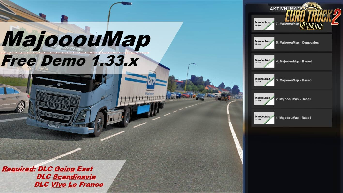 Czech Map/MajooouMap v1.8 (Free Demo): Real-scale map of Czech Republic (1.33.x)