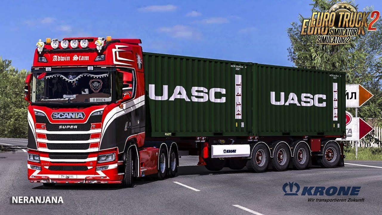 Krone 4 Axle Container Owned trailer By SMG [1.33.x]