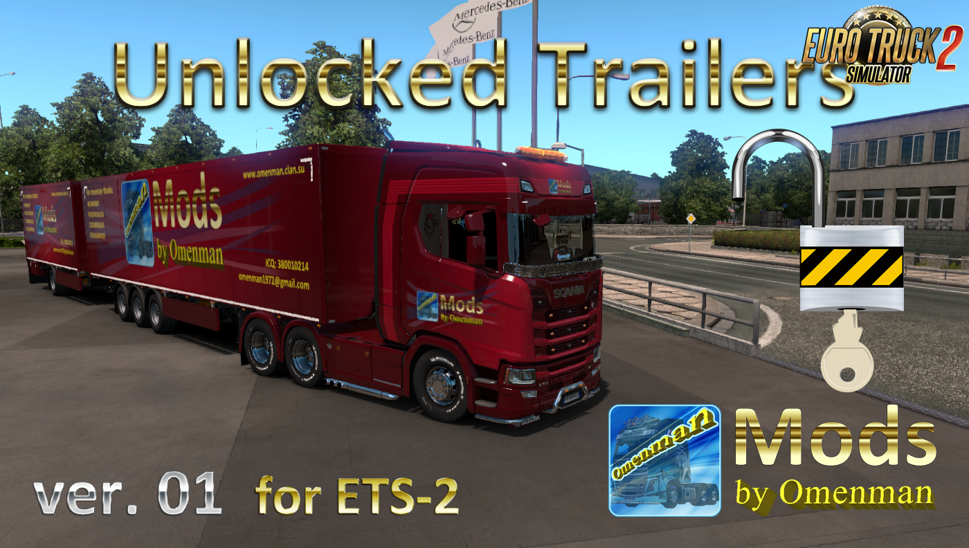 Unlocked Trailers v.01 for Ets2 [1.33.x]