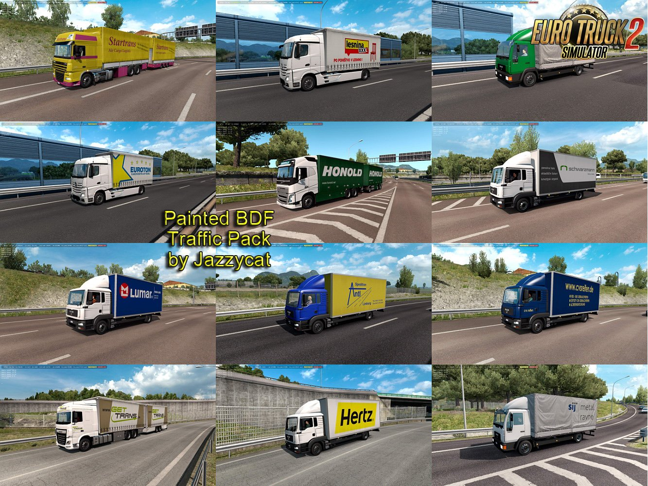 Painted BDF Traffic Pack v4.5 by Jazzycat