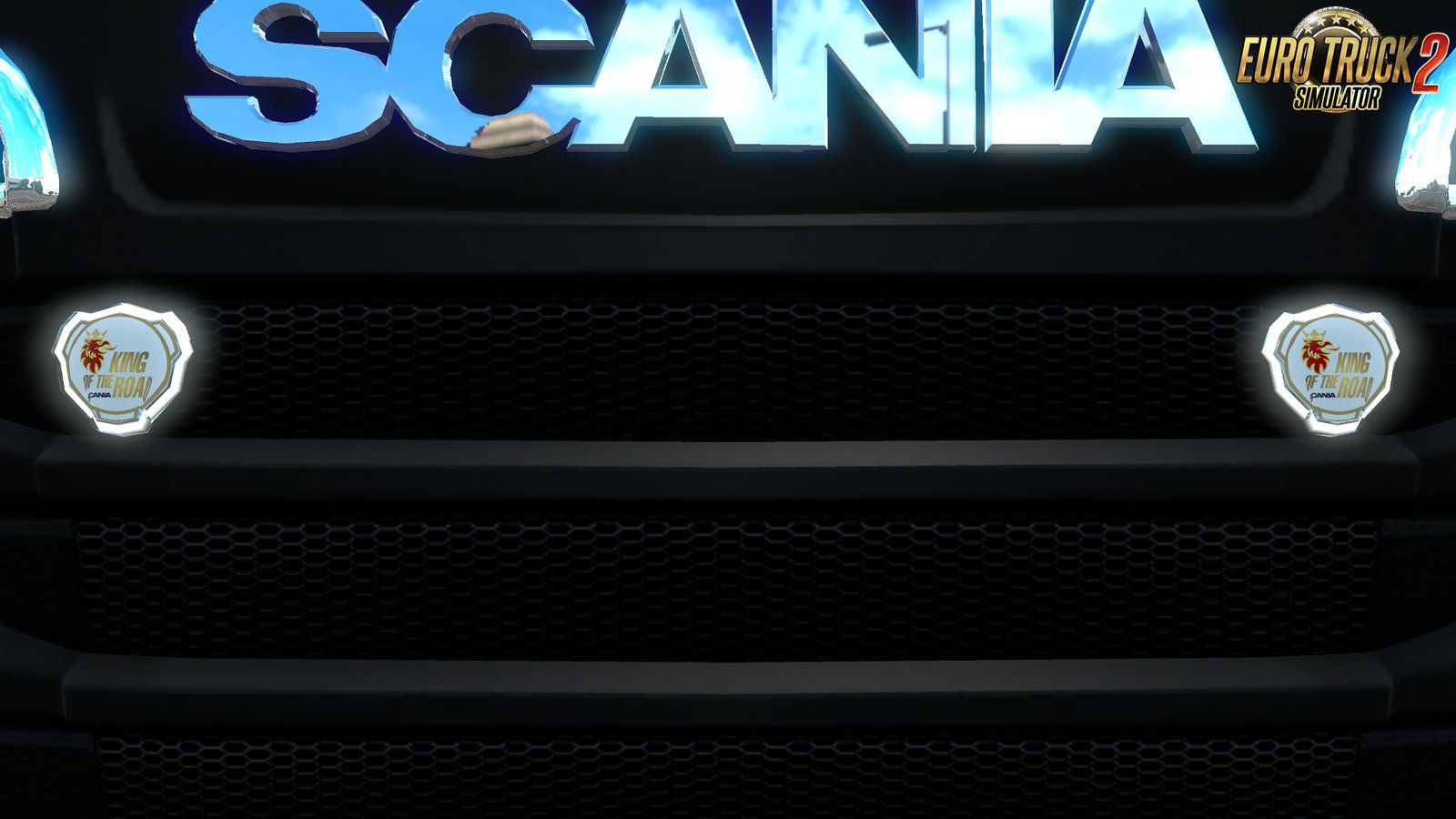 Lighted Scania round Badge v0.9 Beta for RJL