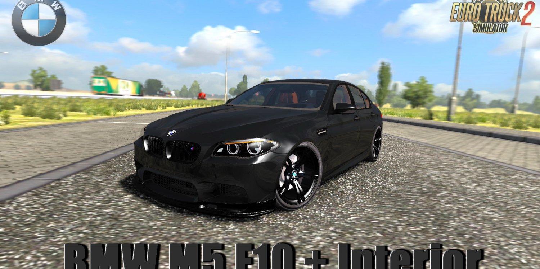 BMW M5 F10 + Interior v1.0 by Berkay Pekesen (1.33.x) for ETS2