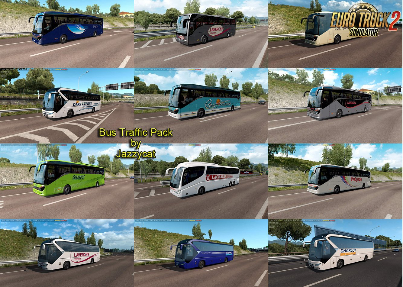 Bus Traffic Pack v6.0 by Jazzycat