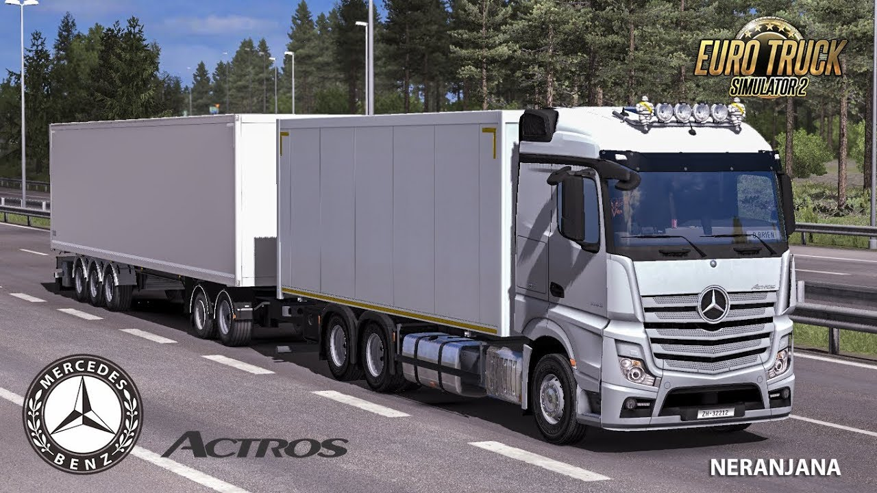 Mercedes Actros MP4 Rigid Chassis Mod v1.1 (1.33.x)