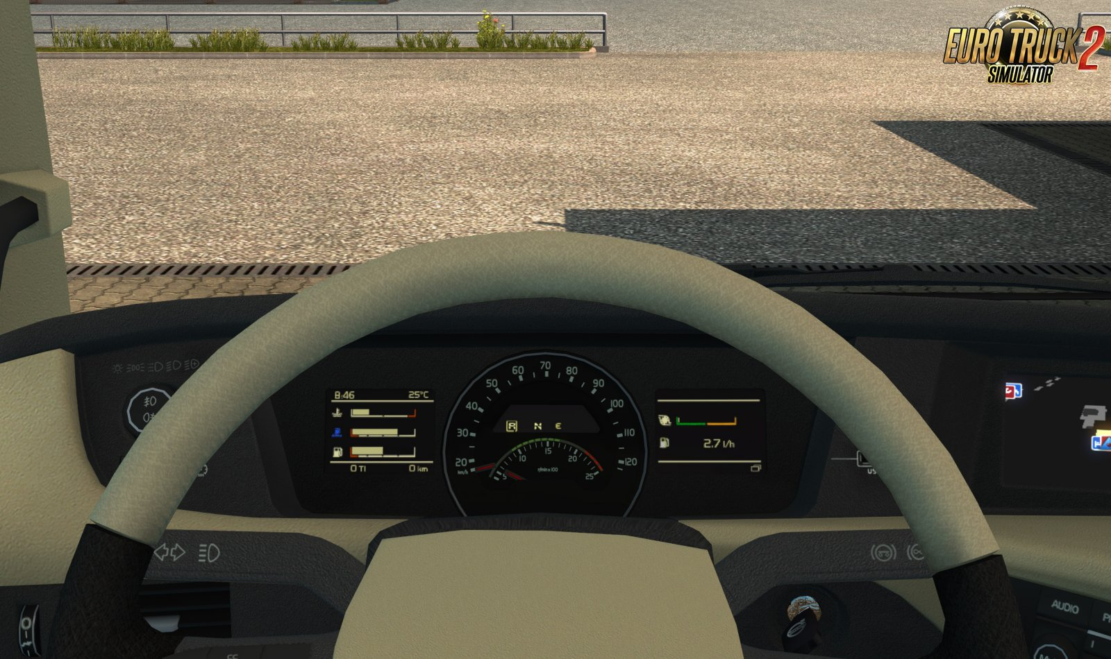 Volvo FH 2012 Realistic Dashboard Computer v1.0 (1.33.x)