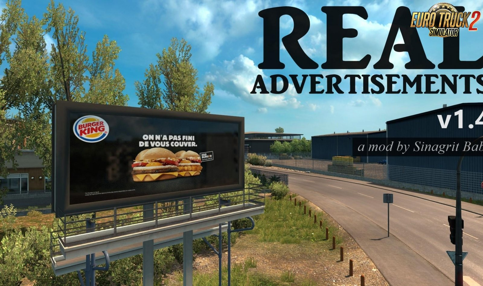 Real Advertisements v1.4 (1.33.x) for ETS2