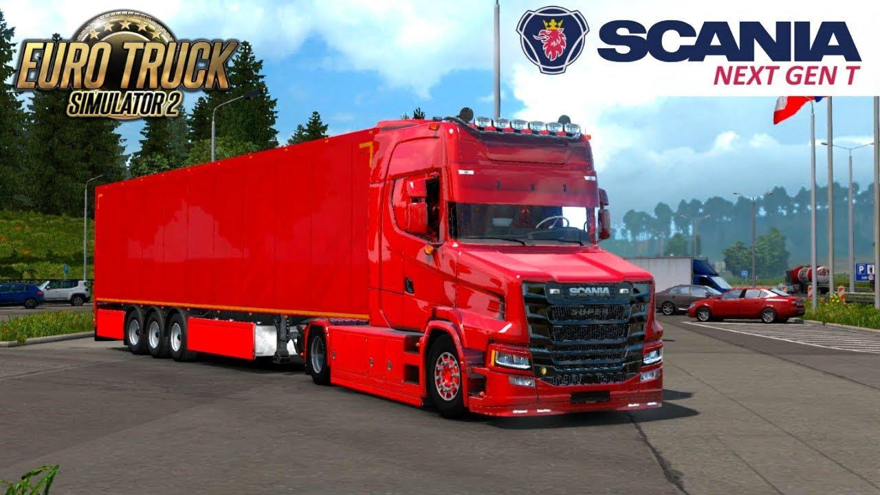 Scania T NextGen 4x2 + Interior + Trailer v1.0 (1.33.x)