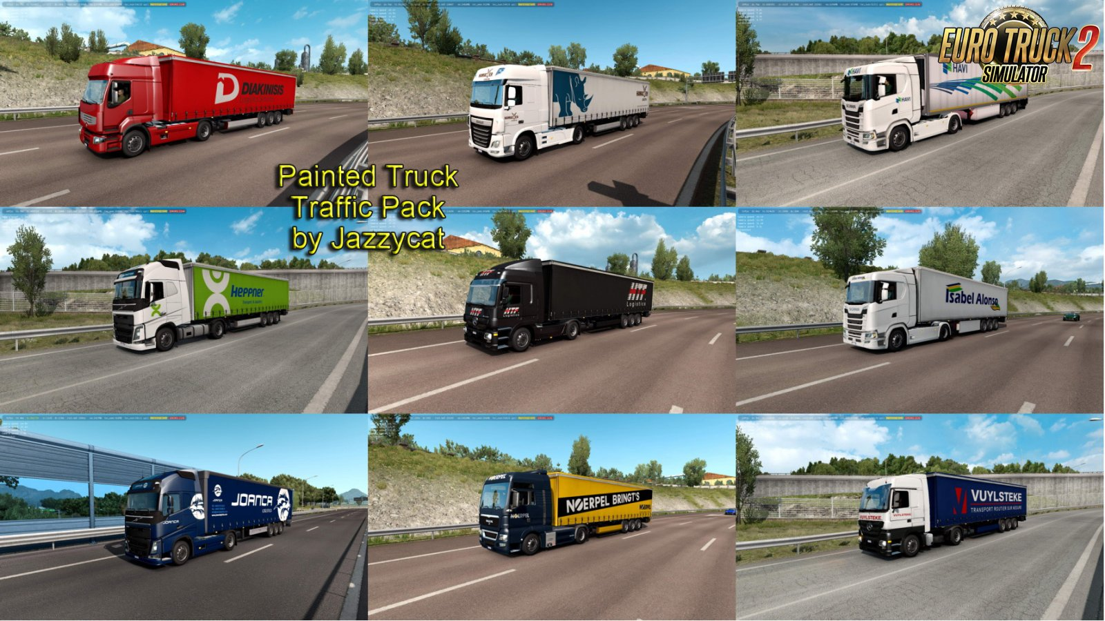 Painted Truck Traffic Pack v7.0 by Jazzycat
