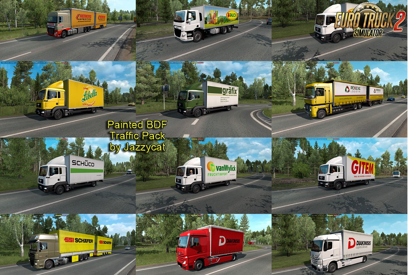 Painted BDF Traffic Pack v4.6 by Jazzycat