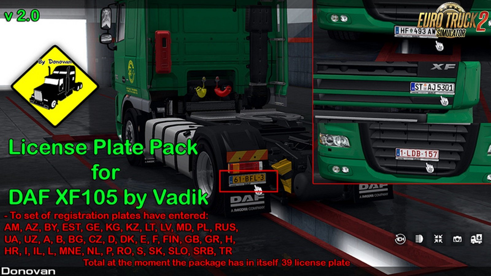 License Plate Pack for DAF XF105 v2.0 by Vad&k