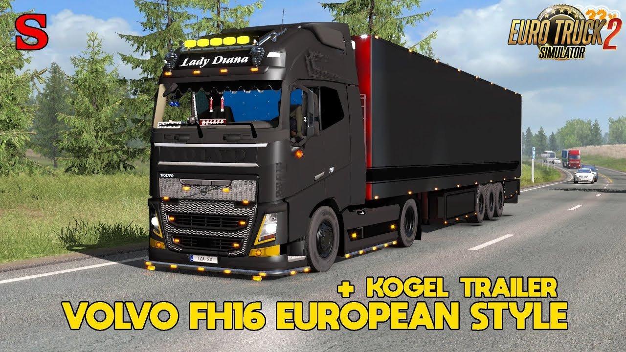 VOLVO FH16 EUROPEAN STYLE + Kogel trailer - Euro Truck Simulator 2