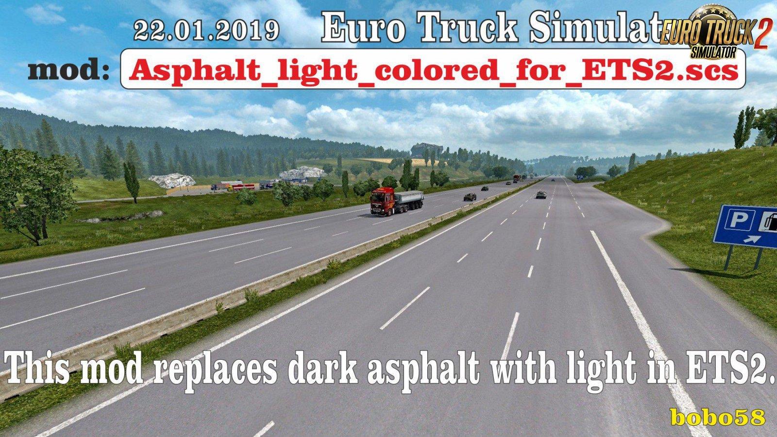 Asphalt light colored for Ets2
