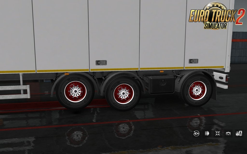 Painted Wheels for many Trailers in Ets2
