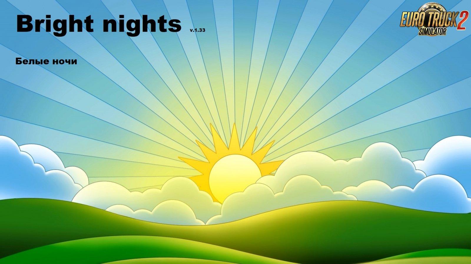 Bright nights HDR Mod v1.0 (v1.33.x) for ETS2