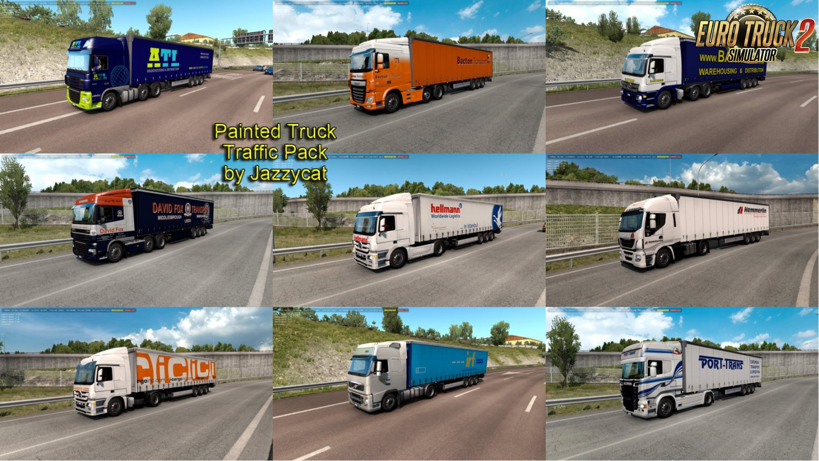 Painted Truck Traffic Pack v7.1 by Jazzycat